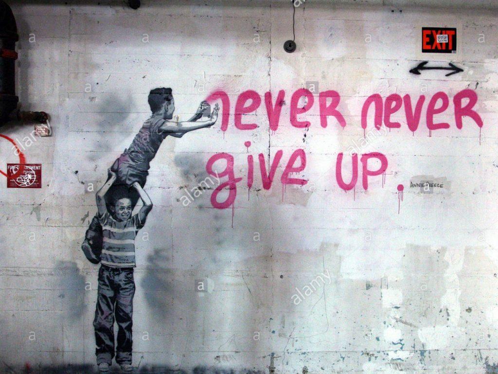 Niekada nepasiduok